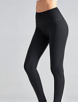 cheap -Women's High Waist Yoga Pants Black Blue Elastane Running Fitness Gym Workout Tights Leggings Sport Activewear Breathable Tummy Control Butt Lift Moisture Wicking High Elasticity Skinny