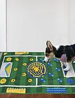 Недорогие -Шарообразные Интерактивная игрушка Собаки Коты Маленькие зверьки Животные Игрушки 1шт Складной Геометрический узор Футбол Полиэстер Подарок