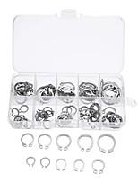 cheap -100Pcs Stainless C-Type Circlip Retaining Snap Ring Circlip Assortment Kit  Box