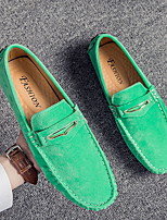 cheap -Men's Spring / Summer Casual Daily Loafers & Slip-Ons PU Orange / Green / Blue