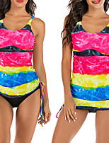 cheap -Women's Two Piece Swimsuit Swimwear Breathable Quick Dry Sleeveless 2-Piece - Swimming Water Sports Summer / Stretchy