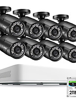 cheap -ZOSI 8CH HD 5.0MP H.265 Security Camera System with 8 x 5MP 2560*1920 Outdoor/ Indoor CCTV Surveillance Camera 2TB Hard Drive