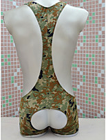 cheap -Men's Cut Out Bodysuits Nightwear Camouflage Army Green One-Size