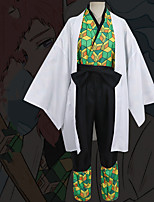 cheap -Inspired by Demon Slayer: Kimetsu no Yaiba Anime Cosplay Costumes Japanese Cosplay Suits Coat Top Pants For Men's / Waist Belt