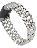 cheap -Stainless Steel Bracelet Band for Fitbit Charge 3 Cowboy Chains Watchband