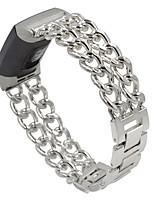 Недорогие -браслет из нержавеющей стали для зарядки fitbit 3 ковбойские цепи ремешок для часов