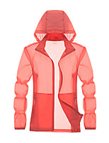 cheap -Women's Hiking Skin Jacket Hiking Jacket Summer Outdoor Sunscreen Breathable Quick Dry Anti-Mosquito Jacket Top Single Slider Running Hunting Fishing White / Fuchsia / Pink
