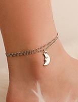 cheap -Anklet Elegant Trendy Ethnic Women's Body Jewelry For Date Birthday Party Alloy Wedding Friends Silver 1 Piece