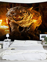cheap -Tiger Digital Printed Tapestry Decor Wall Art Tablecloths Bedspread Picnic Blanket Beach Throw Tapestries Colorful Bedroom Hall Dorm Living Room Hanging