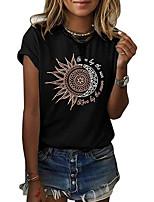 cheap -Women's Geometric T-shirt Daily Weekend Wine / Black / Purple / Green