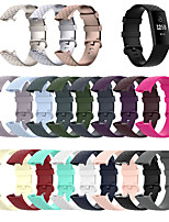 cheap -Watch Band for Fitbit Charge 3 / Fitbit Charge 4 Fitbit Sport Band / Classic Buckle Silicone Wrist Strap