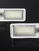 cheap -AMBOTHER LED License Plate Lights White 2PCS For Audi A3 A4 A5 A6 Q7