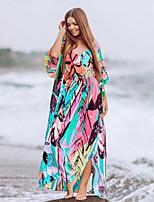 cheap -Women's Rainbow One-piece Swimwear Swimsuit - Geometric One-Size Rainbow
