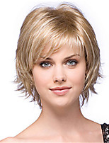 cheap -Synthetic Wig Dry Matte Short Bob Wig Short Light golden Synthetic Hair 6 inch Women's Classic Easy dressing Best Quality Blonde