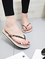cheap -Women's Slippers & Flip-Flops Summer Flat Heel Open Toe Daily PU Red / Black