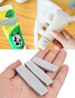 cheap -3pcs/set Toothpaste Squeezer Dispenser Cream Tube Squeezer Extruding Toothpaste Clip Bathroom Products Easy Random Color