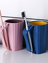 Недорогие -1 шт. Ванная комната стаканы чистки чашки с ручкой аксессуар для ванной зубная чашка пара любителей семейного использования
