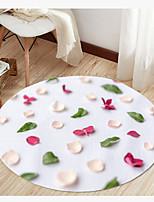 Недорогие -Цветочный принт современный круглый коврик коврик для пола нескользящий абсорбирующий ковер коврик для йоги для прихожей спальня гостиная диван домашний декор