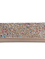 Недорогие -Жен. Кристаллы / Цепочки Полиэстер Вечерняя сумочка 2020 Контрастных цветов Черный / Золотой