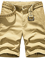 "cheap -Men's Hiking Shorts Summer Outdoor 10"" Loose Breathable Quick Dry Sweat-wicking Comfortable Cotton Shorts Bottoms Camping / Hiking Hunting Fishing Army Green Khaki Dark Blue M L XL XXL XXXL"