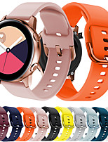 cheap -Silicone Original Sport Watch Band For Samsung Galaxy Watch Active 3 / Galaxy Watch 3 41mm Samsung Galaxy Replacement New strap 20MM