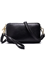 cheap -Women's Tassel / Zipper PU Leather / Cowhide Clutch / Coin Purse / Crossbody Bag Leather Bags Solid Color Wine / Black / Red / Fall & Winter