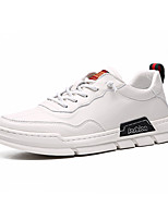 cheap -Men's Fall Casual / Preppy Daily Outdoor Sneakers Walking Shoes Canvas Breathable Non-slipping Wear Proof White / Black