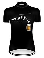 Недорогие -21Grams Жен. С короткими рукавами Велокофты Полиэстер Черный Смешной Пиво Октоберфест Велоспорт Джерси Верхняя часть Горные велосипеды Шоссейные велосипеды / Слабоэластичная / Дышащий / Дышащий