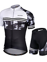 cheap -Nuckily Men's Short Sleeve Cycling Jersey with Shorts Black / White Novelty Bike Quick Dry Sports Novelty Road Bike Cycling Clothing Apparel