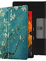 cheap -Case For Lenovo Yoga Smart Tab YT-X705F Shockproof / with Stand / Flip Full Body Cases Apricot Blossom PU Leather Case For Lenovo Yoga Smart Tab YT-X705F