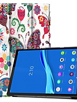 cheap -Case For Lenovo M10 TB-X605F/X505F /Tab P10(TB-X705F / L) / Tab E10 TB-X104 Card Holder/Flip Full Body Cases Butterfly PU Leather Case For Lenovo Tab M7 TB-7305F /Tab E8(TB-8304F) /Tab E7(TB-7104)