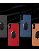 cheap -Case For Apple iPhone7/8/7P/8P/X/XS/XR/XS Max/11/11 Pro/11 Pro Max/SE 2020 Shockproof / Ring Holder Back Cover Solid Colored PU Leather / TPU / Plastic
