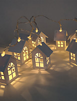 cheap -Christmas Lights Mini House Shape 10 LEDs Copper Wired Light Strips for Wedding Christmas Party Patio Fairy String Light