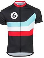 Недорогие -21Grams Муж. С короткими рукавами Велокофты Черный / синий Велоспорт Джерси Верхняя часть Горные велосипеды Шоссейные велосипеды Устойчивость к УФ Дышащий Быстровысыхающий Виды спорта Одежда