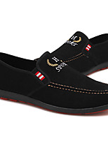 cheap -Men's Spring & Summer / Fall & Winter Casual Daily Outdoor Loafers & Slip-Ons Walking Shoes Faux Leather / PU Breathable Waterproof Non-slipping Black / Blue Slogan