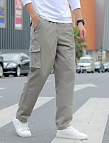 cheap -Men's Hiking Pants Hiking Cargo Pants Summer Outdoor Loose Breathable Quick Dry Soft Sweat-wicking Cotton Pants / Trousers Bottoms Camping / Hiking Hunting Fishing Army Green Grey Khaki L XL XXL XXXL