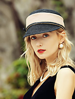 cheap -Casual / Daily Fashion Natural Fiber Hats with Bowknot / Color Block 1pc Casual / Daily Wear Headpiece
