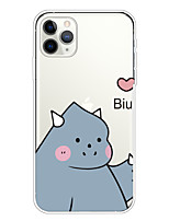 cheap -Case For Apple iPhone 11/11 Pro/11 Pro Max/XS/XR/XS Max/8 Plus/7 Plus/6S Plus/8/7/6/6s/SE/5/5S Transparent Pattern Back Cover Cute Monster Soft TPU