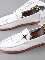 cheap -Men's Spring / Summer Classic / British Daily Office & Career Loafers & Slip-Ons Walking Shoes Nappa Leather White / Black / Beige