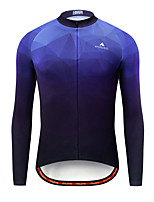 cheap -Miloto Men's Long Sleeve Cycling Jersey Blue Bike Jersey Top Mountain Bike MTB Road Bike Cycling Breathable Quick Dry Sports Clothing Apparel / Stretchy