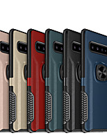 cheap -Case For Samsung Galaxy S20/S20 Plus/S20 Ultra/S10/S10 Plus/S10E/S10 Lite/S10 5G/S9/S9 Plus/Note 10/Note 10 Plus/Note 9 Shockproof / Ring Holder Back Cover Solid Colored TPU / Plastic