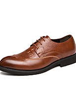 cheap -Men's Summer / Fall Business / Classic Daily Office & Career Oxfords Faux Leather Non-slipping Wear Proof Black / Brown