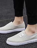 cheap -Men's Spring & Summer / Fall & Winter Classic / British Daily Outdoor Loafers & Slip-Ons Walking Shoes Canvas Breathable Wear Proof Black / Blue / Beige