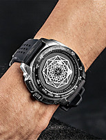 cheap -Men's Sport Watch Japanese Quartz Silicone 30 m Water Resistant / Waterproof Noctilucent Day Date Analog - Digital Fashion Cool - Black / Silver Black+Gloden Black One Year Battery Life