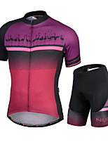 cheap -Nuckily Men's Short Sleeve Cycling Jersey with Shorts Purple Animal Bike Quick Dry Sports Animal Road Bike Cycling Clothing Apparel