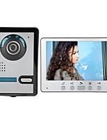Недорогие -7-дюймовый проводной видеодомофон домашний домофон с функцией разблокировки монитора p812m11
