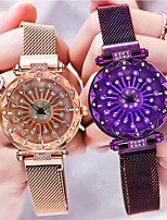 cheap -Women's Quartz Watches Fashion Black Blue Purple Alloy Chinese Quartz Rose Gold Black Blue Casual Watch Analog One Year Battery Life