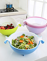 cheap -2-in-1 Multifunction Kitchen Colander Strainer Bowl Set Fruit Vegetable Double Layered Rotatable Drain Basin Basket