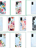 Недорогие -чехол для samsung граф сцены s20 s20 plus s20 ultra a51 a71 цветочный узор высокопрозрачный окрашенный тпу материал мягкий чехол для телефона