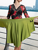 cheap -Latin Dance Skirts Pleats Women's Performance Dropped Crystal Cotton